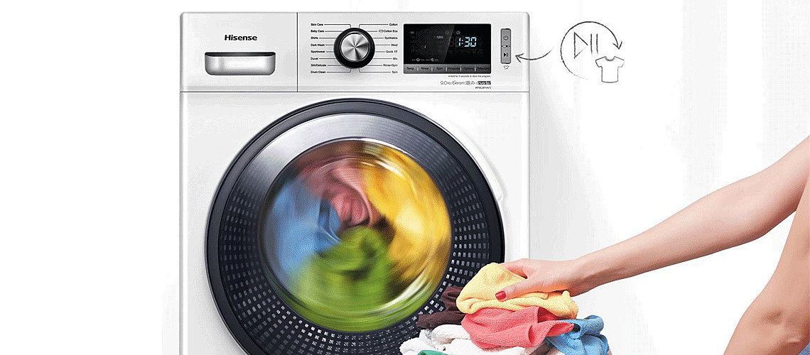 Dodavanje odjeće tijekom pranja slika