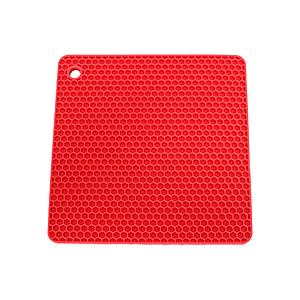 Podmetač kockasti,silikonski, crvena