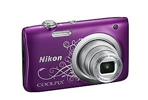 Fotoaparat, ljubičasti Lineart
