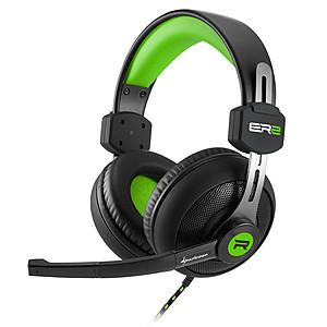 Slušalice; Mikrofon; Crno/Zelene